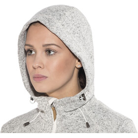 High Colorado Rax Strickfleece Hoodie Damen grau melange